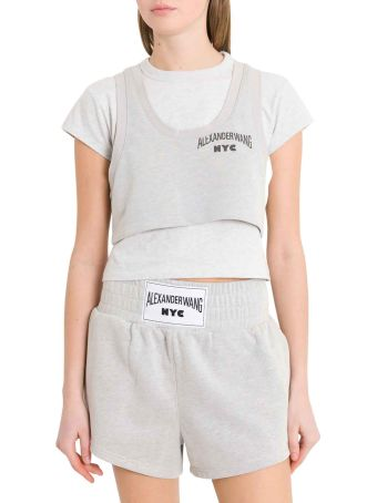 T by Alexander Wang Bi-layer Crop Top