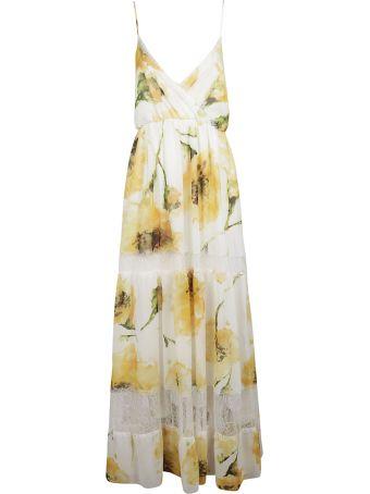 Blugirl Sunflower Print Sleeveless Long Dress