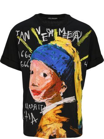 Neil Barrett Girl Print T-shirt