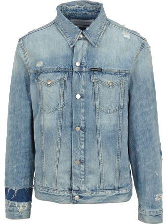 Calvin Klein Jeans Ripped Denim Jacket