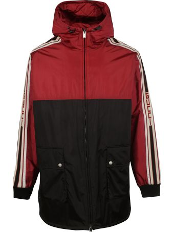 Gucci Long Length Logo Windbreaker