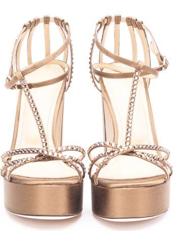 Giannico Satin Heel Sandals