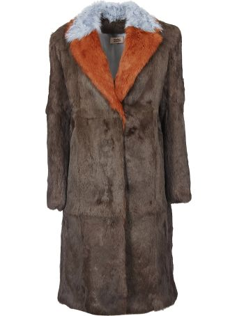 Yves Salomon Yves Solomon Army Contrasted Collar Coat