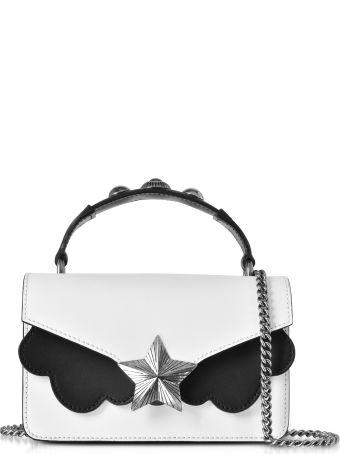 Les Jeunes Etoiles White&black Leather Vega Mini Shoulder Bag