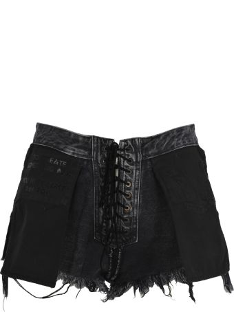 Ben Taverniti Unravel Project Unravel Reverse Lace Up Short