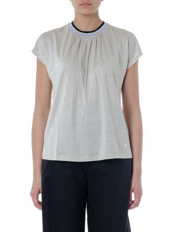Fay Gold Shiny Viscose T-shirt