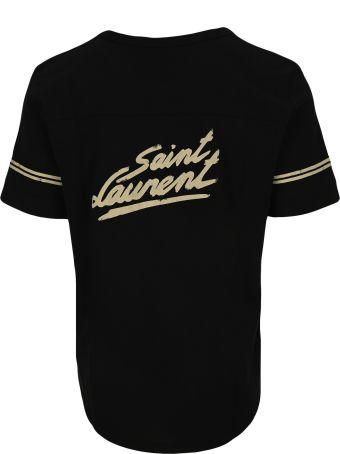 Saint Laurent 1950 Signature Print Destroyed T-shirt