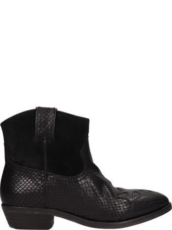 Catarina Martins Black Leather And Suede Ankle Boots