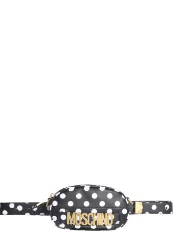 Moschino Polka Dot Pouch With Logo