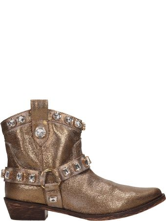 Coral Blue Tex Bronze Leather Boots