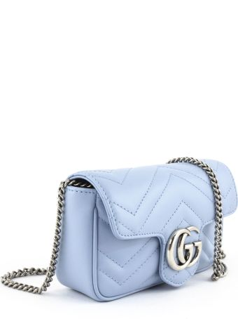 Gucci Gg Marmont Pastel Blue Super Mini Bag