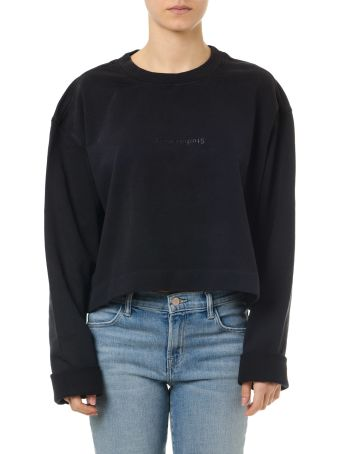 Acne Studios Black Cotton Logo Sweatshirt