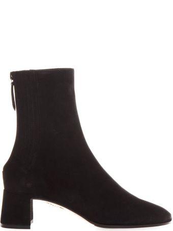 Aquazzura Black Suede Boots