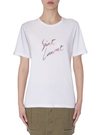 Saint Laurent T-shirt With Logo Print