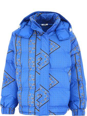 Ganni Bandana Print Puffer Jacket