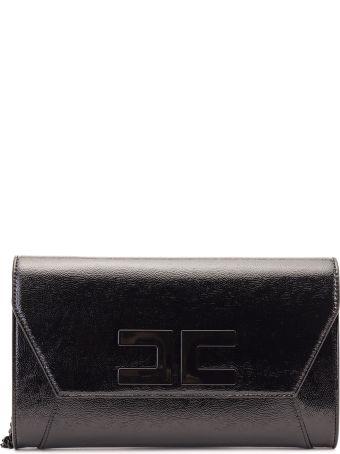 Elisabetta Franchi Celyn B. Elisabetta Franchi Faux Patent Leather Envelope Bag