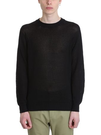 Maison Flaneur Black Cotton Sweater
