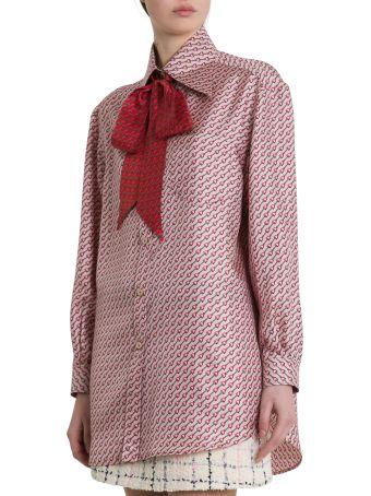 Gucci Silk Top With Stirrups Print