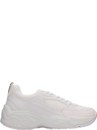 Kendall + Kylie Focus 6b White Mesh And Leather Sneakers