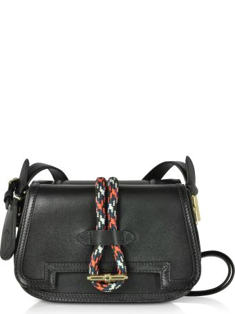 Carven Smooth Leather Flap Top Twin Bag