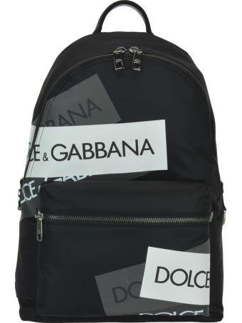 Dolce & Gabbana Logo Tape Print Vulcano Backpack