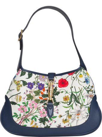 47177820434d Gucci Jackie Medium Flora Hobo Bag In Multicolor