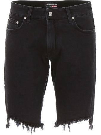 REPRESENT Destroyed Denim Shorts