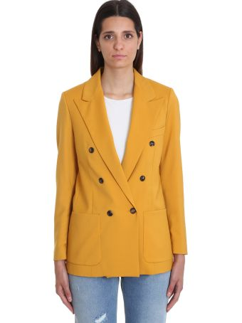 Mauro Grifoni Blazer In Yellow Cotton