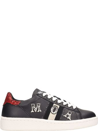 M.O.A. master of arts Low Black Leather Sneakers