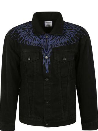 Marcelo Burlon Pictorial Wings Stone Slim Denim Jacket