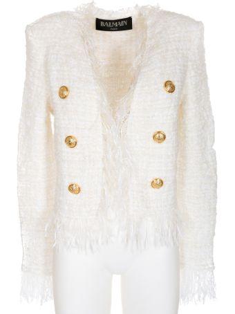 Balmain Double Breasted Fringed Jacket