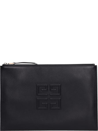Givenchy Clutch Bag In Black Leather