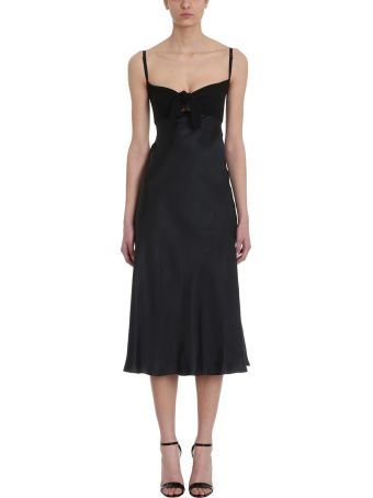 Maison Flaneur Black Cotton And Silk Dress