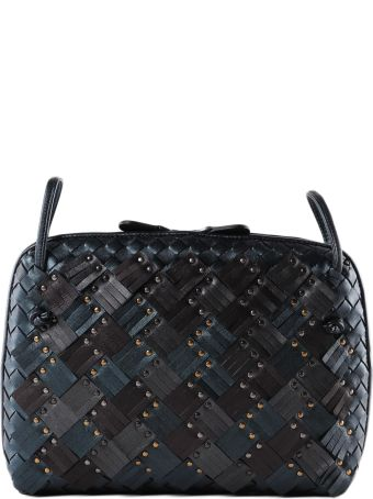 Bottega Veneta Weaved Studded Shoulder Bag