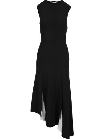 Givenchy Givenchy Long Knit Pleated Dress