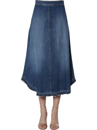 Philosophy di Lorenzo Serafini Midi In Denim Skirt