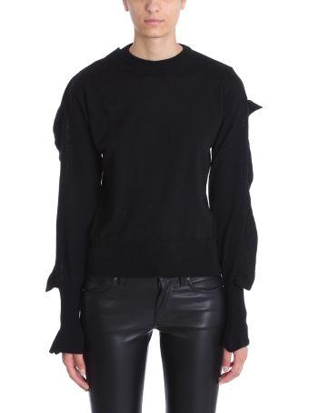 Laneus Embellished Sleeve Sweater