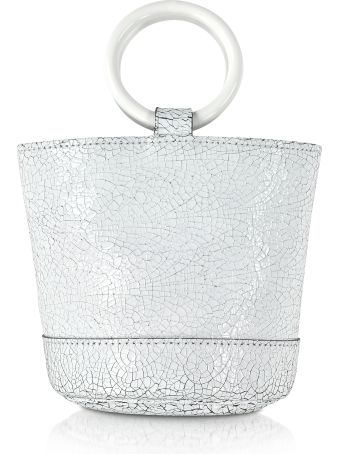 Simon Miller S801 White Crackle Leather 15 Cm Bonsai Bag