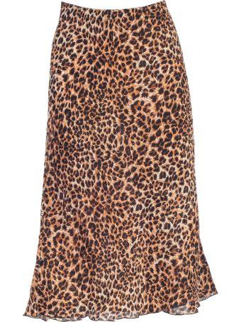 Nanushka Leopard Print Midi Skirt