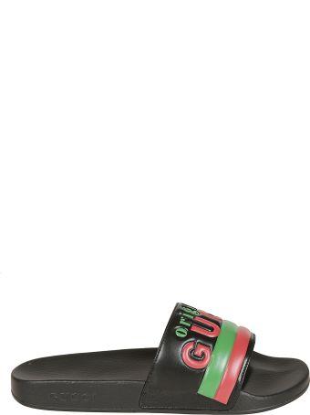Gucci Embossed Logo Sliders