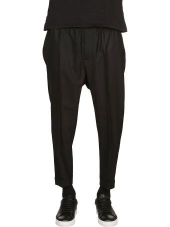 Ami Alexandre Mattiussi Ribbed Elastic Cropped Trousers