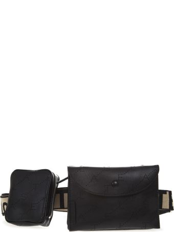 Stella McCartney Beige And Black Faux Leather Belt Bag