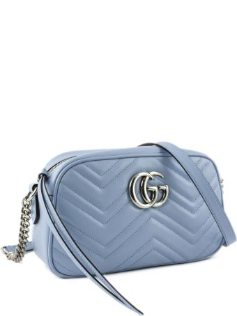 Gucci Gg Marmont Pastel Blue Shoulder Bag