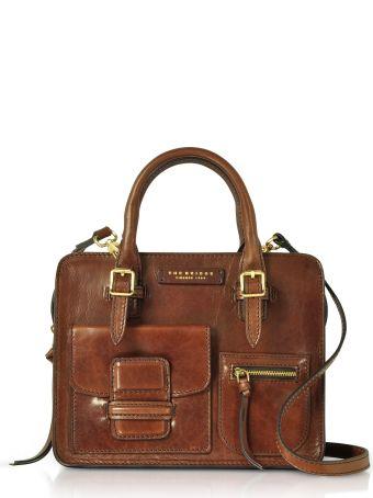 The Bridge Brown Genuine Leather Mini Tote Bag