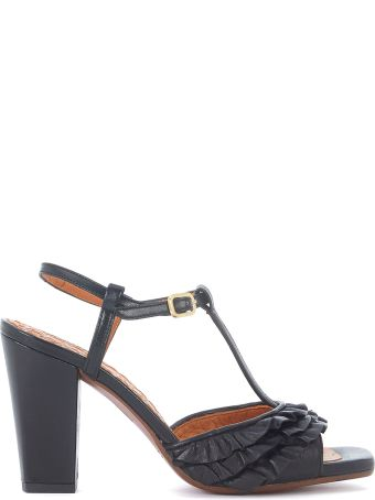 Chie Mihara Brunella Black Leather Heeled Sandal