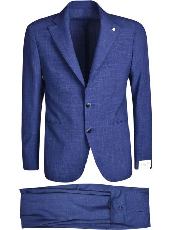 Luigi Bianchi Mantova Single Breasted Textured Suit