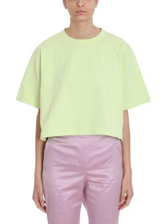 Acne Studios Yellow Cotton T-shirt 28 Cylea Emboss