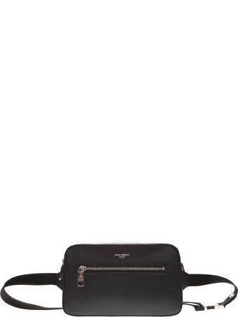 Dolce & Gabbana Black Leather Pouch