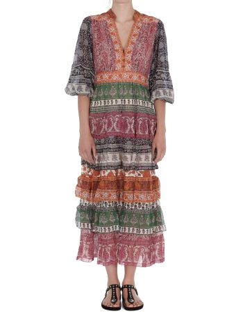 Zimmermann Amari Tiered Midi Dress