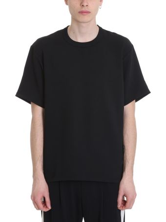 Attachment Black Cotton T-shirt